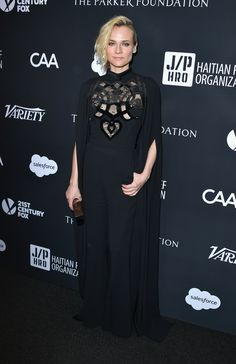 Actress Diane Kruger in ELIE SAAB Pre-Fall 2017 at the 6th Annual Sean Penn & Friends HAITI RISING Gala in Beverly Hills.