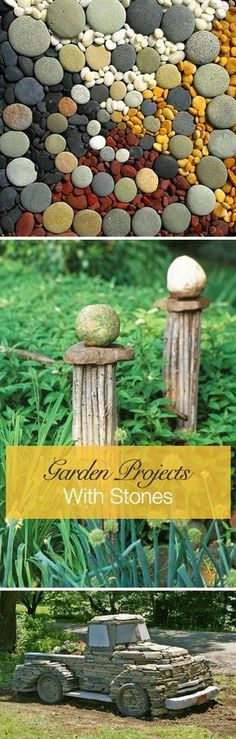 More Easy Garden Projects with Stones! #easygardening