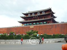 The tower was built 600 years ago during the Ming Dynasty and is one of the symbolic constructions of South Yunnan from centuries ago.