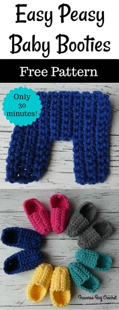 Crochet Patterns Quick Baby Booties Ideas For 2019 Crochet Baby Booties Tutorial, Easy Crochet Slippers, Baby Booties Free Pattern, Booties Crochet, Crochet Baby Shoes, Baby Slippers, Crochet Poncho, Crochet Clothes, Easy Crochet Baby Hat