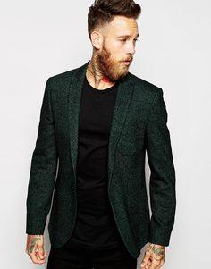 ASOS Slim Blazer In Herringbone #blazer