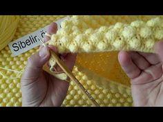 POPCORN BEBEK BATTANİYESİ YAPILIŞI...popcorn baby blanket - YouTube Crochet Baby Bibs, Crochet Pouf, Gilet Crochet, Knitted Baby Blankets, Baby Blanket Crochet, Baby Knitting Patterns, Crochet Patterns, Hand Knitting, Crochet Stitches For Beginners