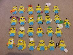 Assemble the minions!!! Cute cloakroom name tags