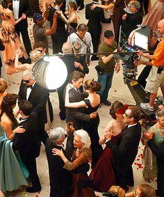 BTS of The Dark Knight Rises: the dance scene.