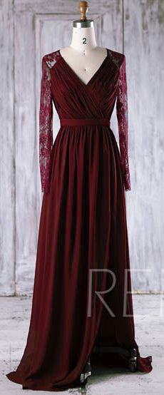 Burgundy Bridesmaid Dress #3