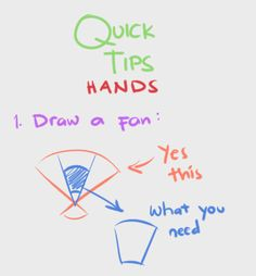 Hand tutorial reference (more on tumblr)