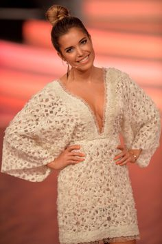 Sylvie Meis attend the 5th show of the television competition 'Let's Dance' on April 17, 2015 in Cologne, Germany.