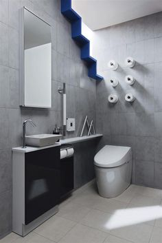 TOTO トイレ<ネオレストAH1>レストルームドレッサー <セレクトシリーズ> Guest Toilet, Small Toilet, Restroom Design, Toilet Design, Tiny Spaces, My Room, Powder Room, Master Bathroom, House Design