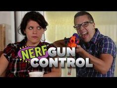 Nerf Gun Control - http://www.viralvideopalace.com/collegehumor/nerf-gun-control/