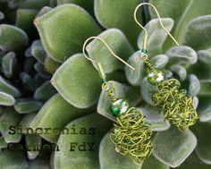 Pendientes en tonos verdes