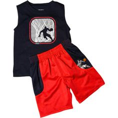 AND1 Baby Boys 2-Piece Athletic Tank and Short Set