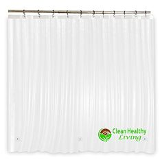 Heavy Duty PEVA Shower Liner Odorless  Anti Mold with Magnets  Suction Cups Its 70 x 71 in long and Heavy Weight  Clear Color -- Want to know more, click on the image.