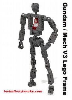 Gundam / Mech Frame V3 : A LEGO® creation by Chris Roach : MOCpages.com