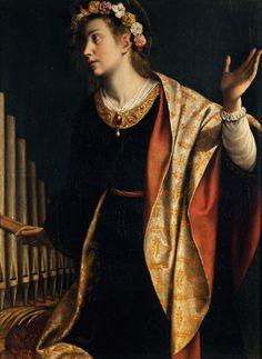 Orazio Gentileschi [1562 - 1639] Santa Cecilia