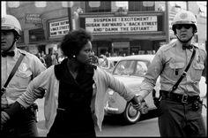 Bruce Davidson, A civil rights demonstrator is arrested in Birmingham, Alabama, 1963