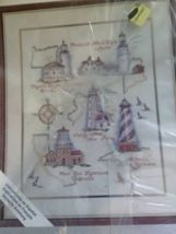 Historic lighthouses counted cross stitch kit Happy 2015, Counted Cross Stitch Kits, Lighthouses, Counting, Holiday Gifts, Craft Supplies, Arts And Crafts, Auction, Gift Ideas