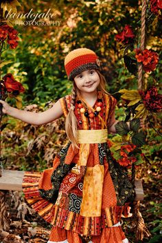 Harvest Boom Dress sz 2yrs  6yrs by outtahand on Etsy, $40.00