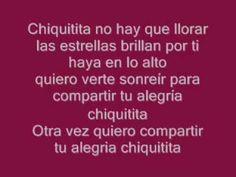Chiquitita ABBA Español Letra (1979) - YouTube