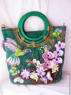 """Купить Сумка """"Изумрудный остров"""" - разноцветный, сумка ручной работы, сумка женская"""