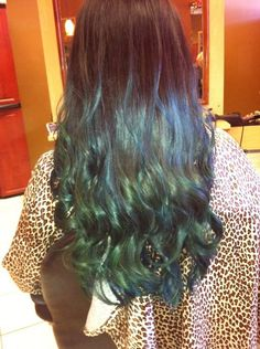 blue and teal ombre