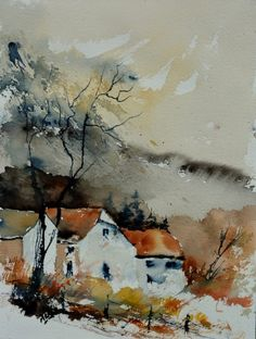 watercolor 612032, painting by artist ledent pol