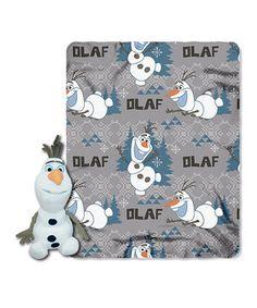 Love this Frozen Olaf 'Happy Snowman' Throw & Plush Set by Frozen on #zulily! #zulilyfinds