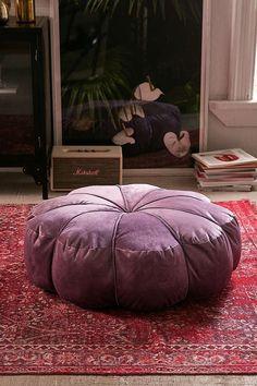 Slide View: 1: Clarice Velvet Floor Pillow