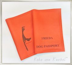 Koko von Knebel Passport Cover with indiv. Laser Engraving - Handmade in Germany with Love