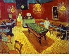 Vincent Van Gogh, 1888 night cafe, oil on canvas. Yale university art gallery, New Haven