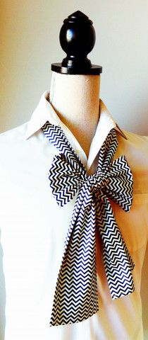 Women's Bow Tie- Chevron
