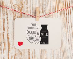 Cookies and Milk Stamp for Wedding Favors by HelloWorldStamps, $24.95