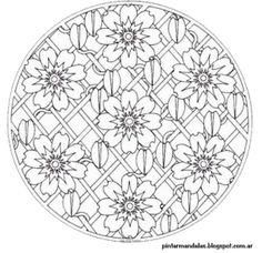 9 Mandalas de flores para pintar (1)