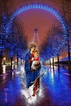 Mary Jesus Mother, Blessed Mother Mary, Mary And Jesus, Blessed Virgin Mary, Religious Pictures, Jesus Pictures, Rose Flower Pictures, Prayer Images, Hail Holy Queen