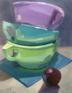 Robin Rosenthal Art: Stacked and Plum