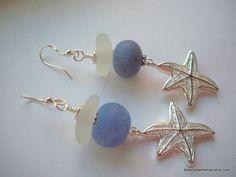 ON SALE Sea Glass Beach Glass Earrings FREE Shipping