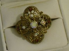 1970's Vintage Statement Ring Size 8 by CountryGalPicker on Etsy, $45.50