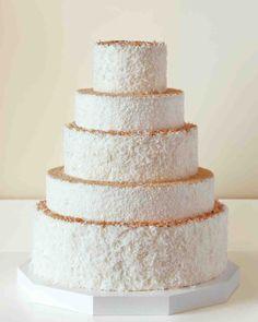 25 Amazing Beach Wedding Cakes Martha Weddings This Five Layer Masterpiece
