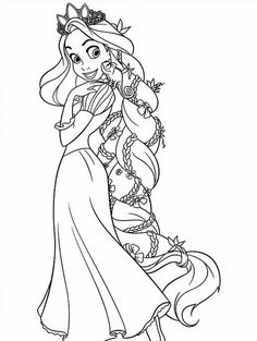 Raskraski Rapuncel Disnej Coloring Pages Tangled Coloring