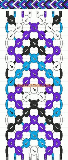 Normal Friendship Bracelet Pattern #1695 - BraceletBook.com