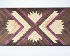 Wood Wall Art  Wooden Wall Art  Geometric by RoamingRootsWoodwork