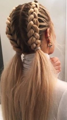 52 Braid Hairstyle Ideas for Girls Nowadays, 52 Braid Hairstyle Ideas for Girls Nowadays, Related posts:Sommerhochsteckfrisuren für lange Haare - Neu Haare Frisuren 2018 - My. Pretty Hairstyles, Easy Hairstyles, Girl Hairstyles, Hairstyle Ideas, Braided Hairstyles For School, Athletic Hairstyles, French Braid Hairstyles, Clubbing Hairstyles, Long Hairstyles