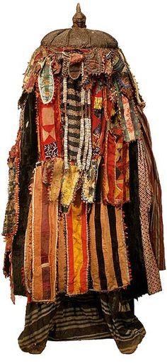 Africa | Egungun Costume. Yoruba peoples.