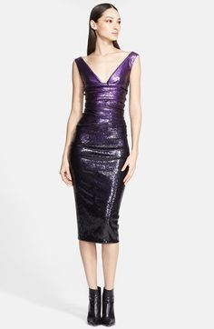 Donna Karan Collection Sequin Midi Dress available at #Nordstrom