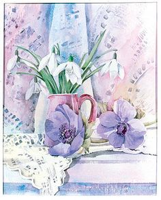 Julia Rowntree - Snowdrops And Anemones