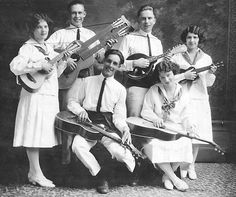 American Garber Band 1920's Harper Guitar, Gibson Mandolin