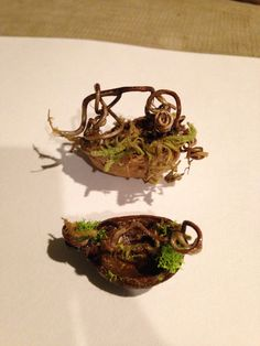 nut baskets with grapevine and moss. sold at my etsy store