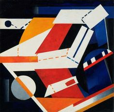 Alexandra Exter, Construction (1922-23), oil on canvas, 35-1/8″ x 35-3/8″, courtesy The Museum of Modern Art, The Riklis Collection of McCrory Collection