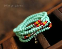 Fashion High quality Turquoise bracelet gourd multiturn 4mm Beads Weave Bracelets & Bangles for Women Jewelry Wholesale