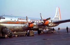 """American Overseas Airways Stratocruiser N90947 """"Flagship Denmark"""" in 1949 or 1950"""