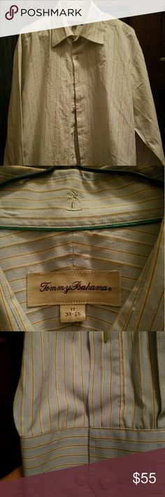 Tommy Bahama shirt  size 17 This shirt is a tommy bahama very sharp shirt size 17. 34 35 this dosent look to be worn. Tommy Bahama Shirts Dress Shirts